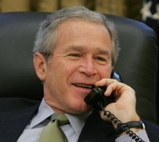 President George W. Bush. Good luck calling him!