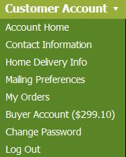 Each farm customer has an account with useful features.